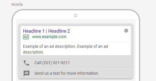 mobile paid search ad