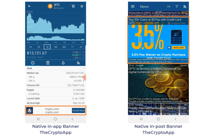 the crypto app native banners